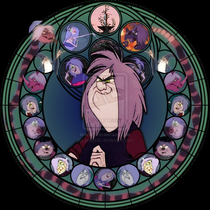 Madam Mim stained glass by jeorje90 on deviantART