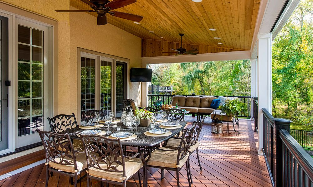 Deck and Covered Porch by Gasper Patio, Carpentry
