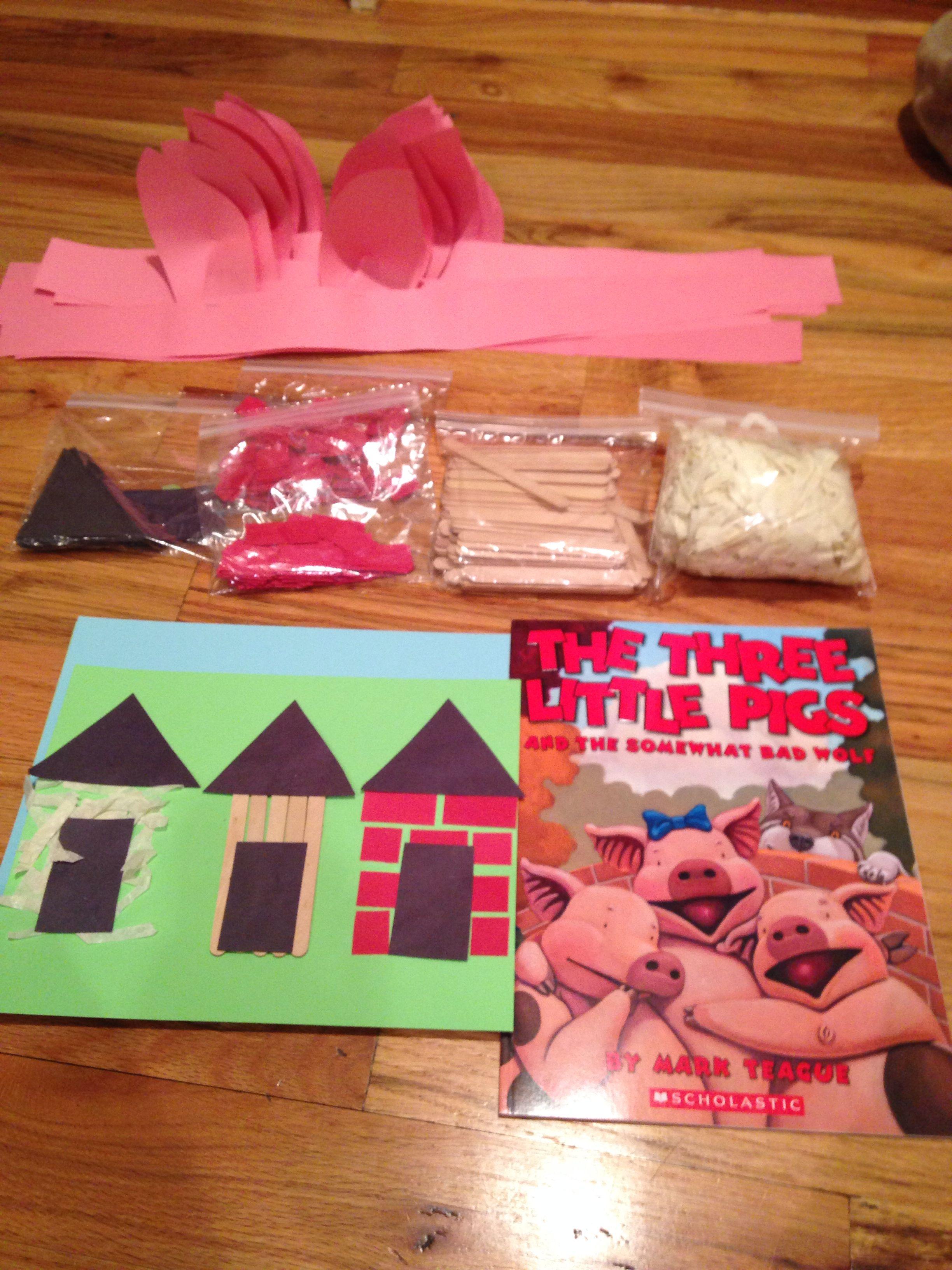 Three Little Pigs Craft For Preschoolers