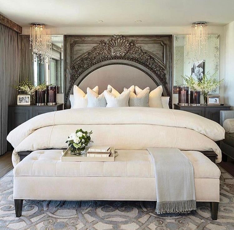 Elegant White Master Bedrooms: Elegant White And Gray Bedroom, A Lot Of Different
