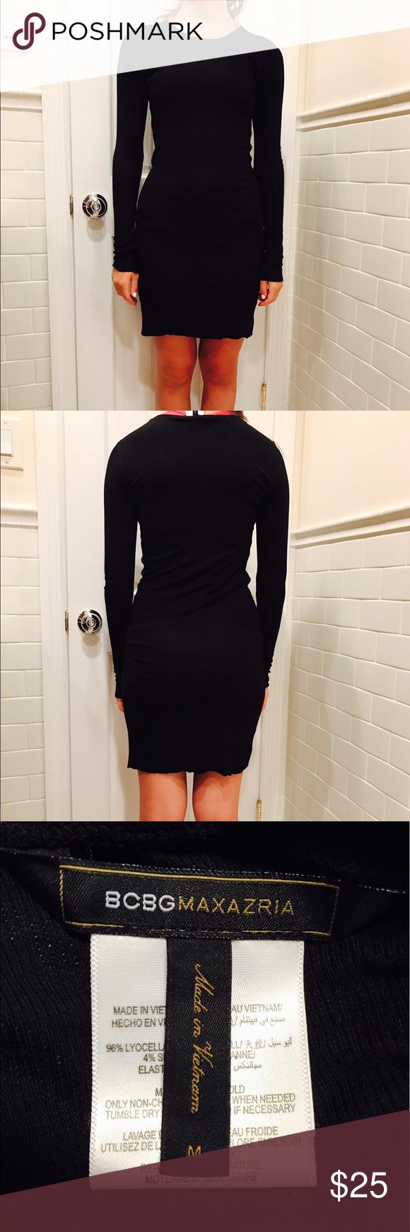 BCBG MAXAZRIA black cotton tight dress⭐ | Schwarz, Minis und Kleider