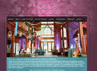 A great wedding planner site with beautiful colors and a powerful ...