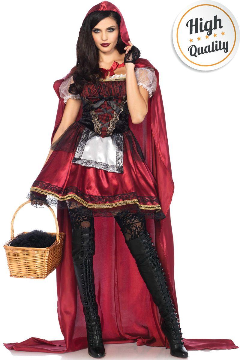 Halloween Sprookjes Kostuum.Deluxe Roodkapje Kostuum Mooie Luxe Roodkapje Jurk Voor