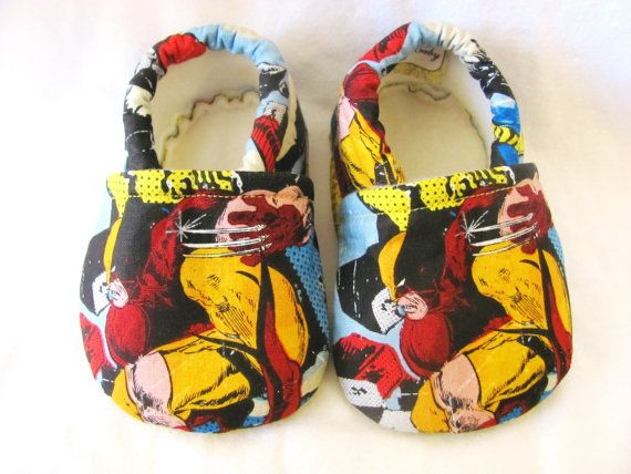 6854d9b59709a Wolverine Wolverine Baby Shoes Marvel Comics by ElleCoutureBaby ...