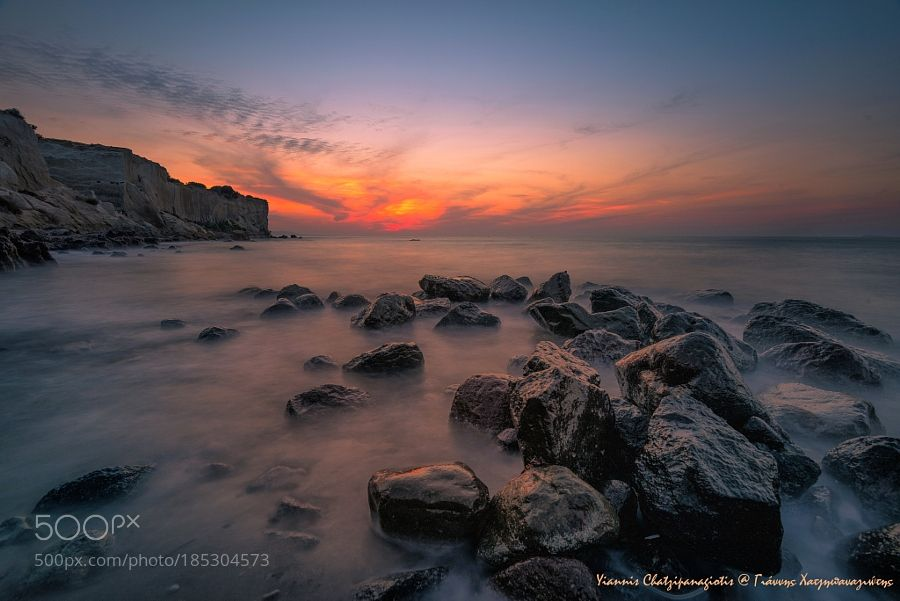 Cliffs and rocks under the golden light by yiannischatzipanagiotis. Please Like http://fb.me/go4photos and Follow @go4fotos Thank You. :-)