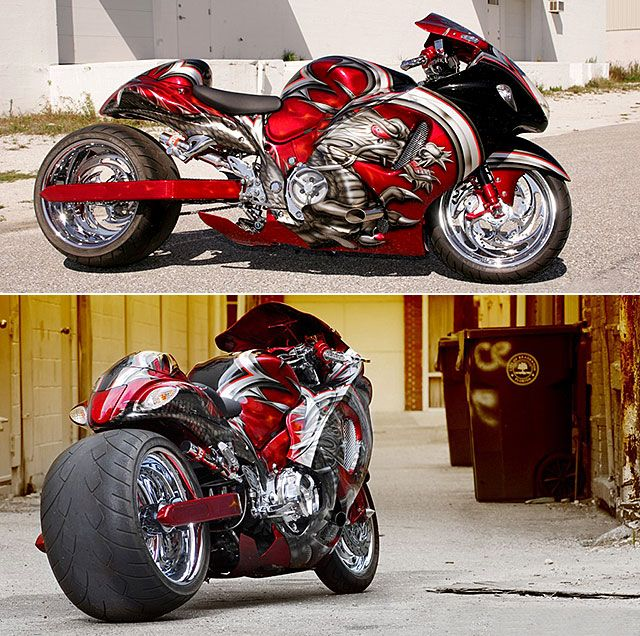 Motorcycle Turbo Modified: #Suzuki GSXR 1300 Hayabusa Turbo 'Red Dragon