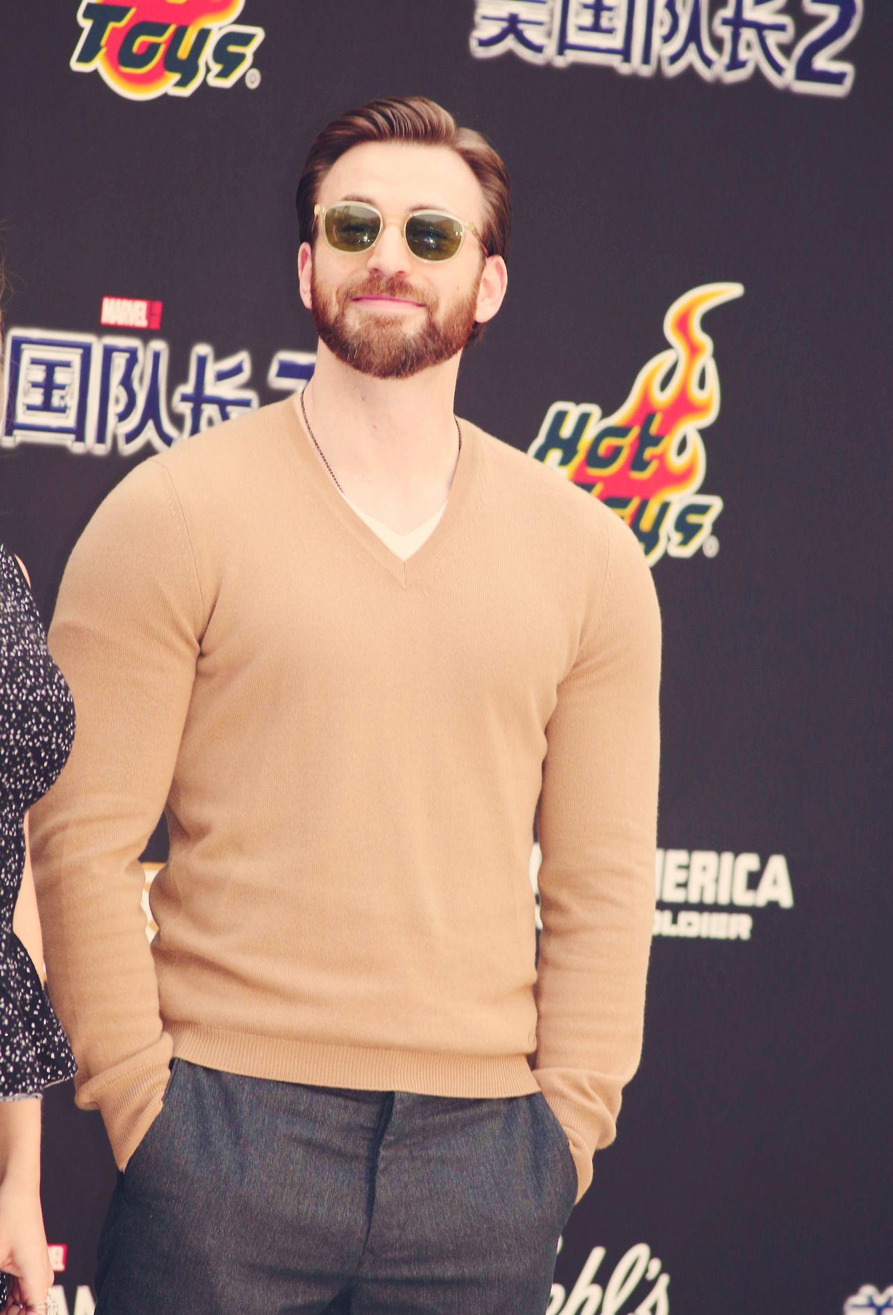 Chris Evans at Beijing premiere of CATWS