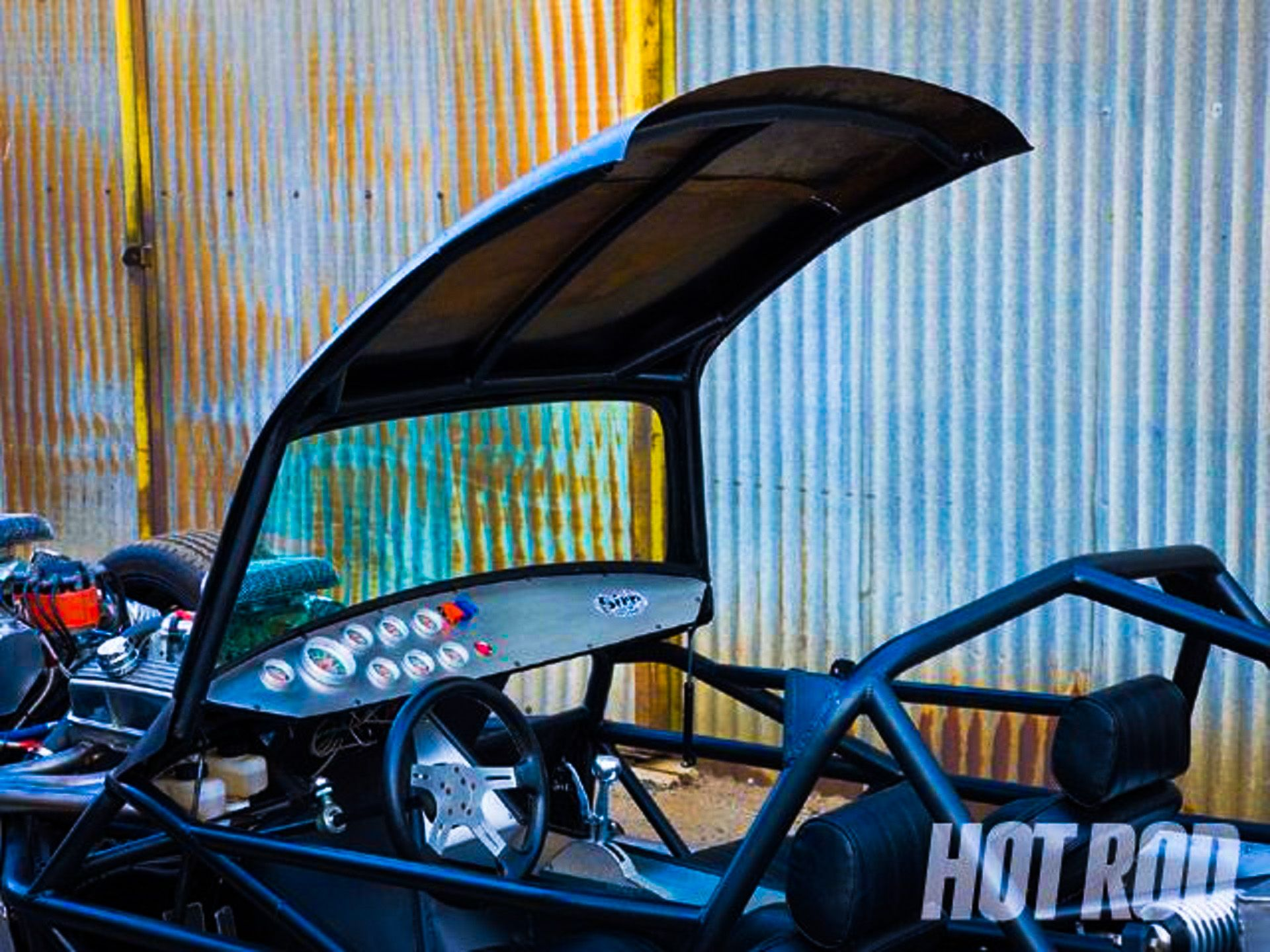 """The Priapism"" V16 Hot Rod Custom Speed Buggy (Flip Top Roof).    http://sirecustomperformance.com/Sire.html and/or http://hotrod.com/cars/featured/hrdp-0909-custom-speed-buggy/"