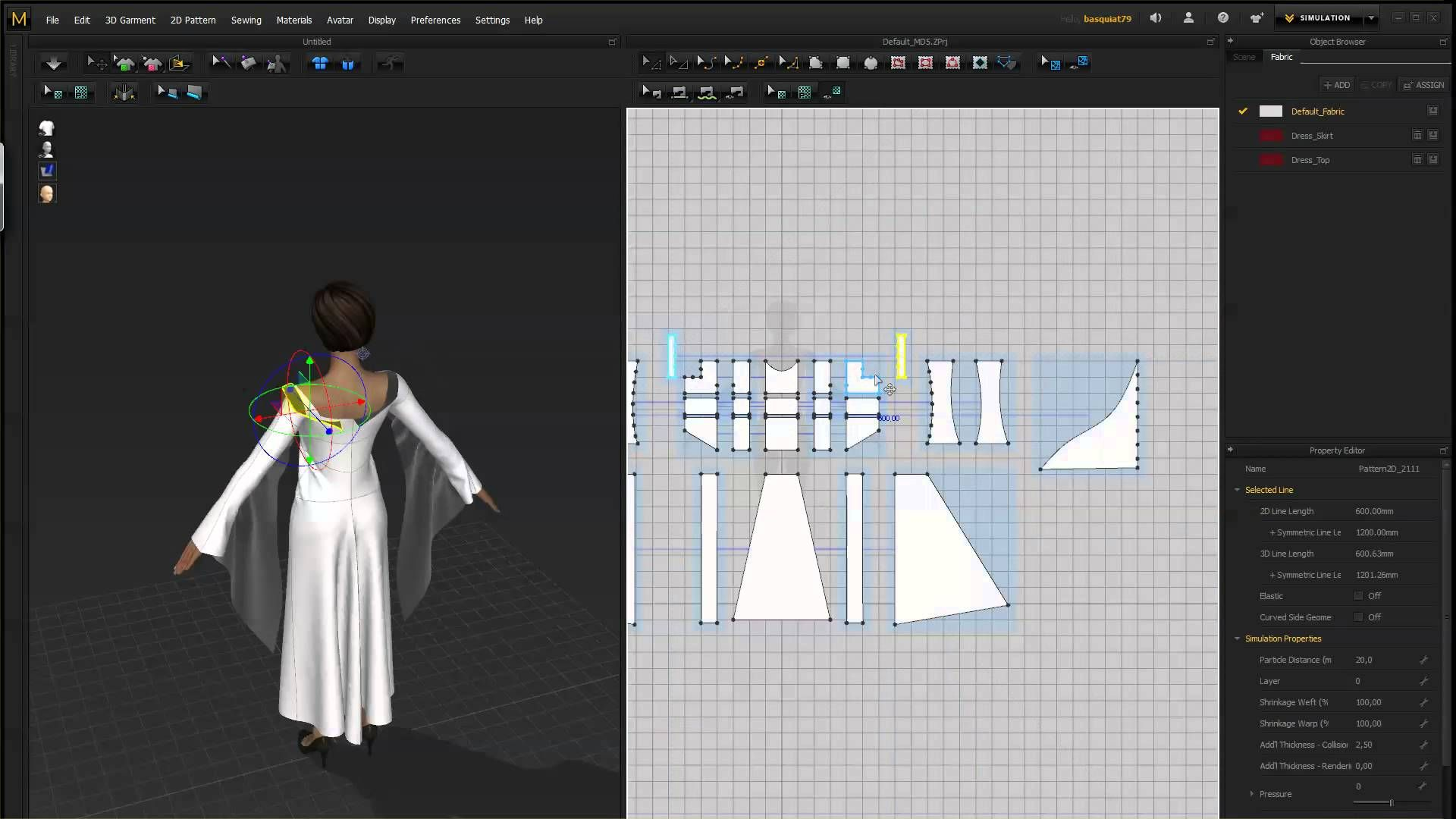 Marvelous Designer 5 Time Lapse Medieval Dress Marvelous Designer Designer Clothing Patterns Design