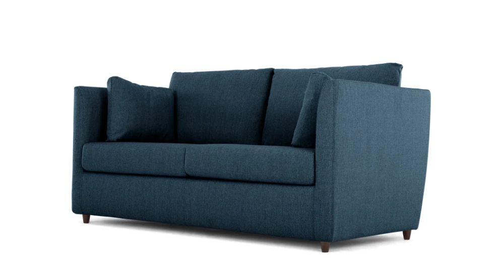 Milner Sofa Bed with Memory Foam Mattress, Arctic Blue