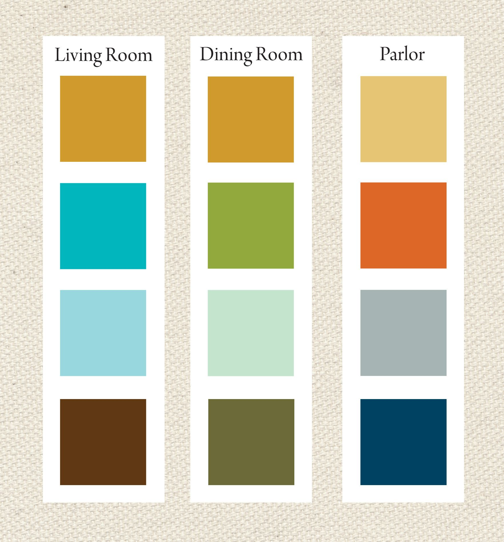 Whole House Color Palette. I Like The Second From The Bottom :)
