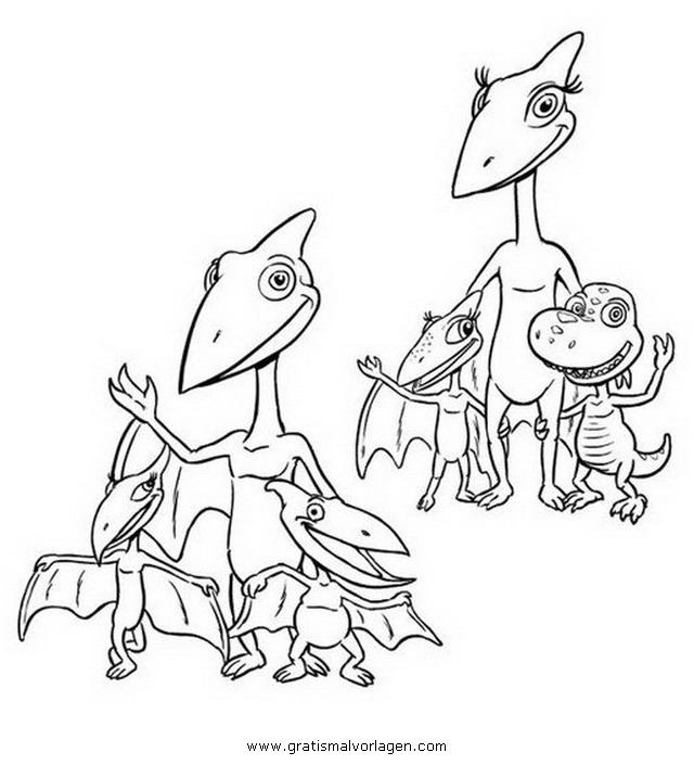Dinosaurierzug Malvorlagen Dino Zug Dinozug 01 Gratis Malvorlage In Comic Trickfilmfiguren