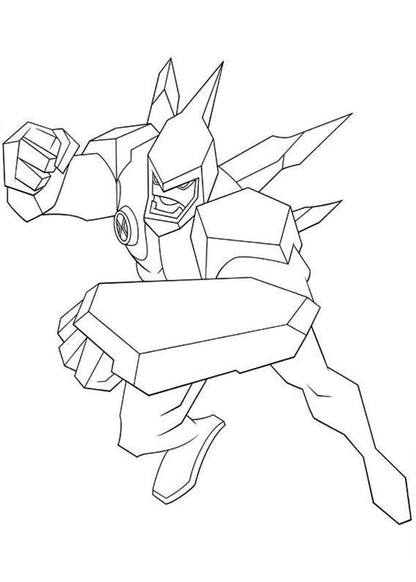 Diamondhead From Ben 10 Omniverse Coloring Page Download Print Online Coloring Pages For Free Coloring Pages Cartoon Coloring Pages Online Coloring Pages