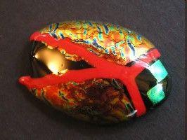 Beautiful Glass art beetle by my talented friend Kirsten Laken