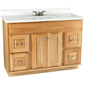 Style Selections Cotton Creek 48 In X 21 In Natural Traditional Bathroom Vanity For The Home