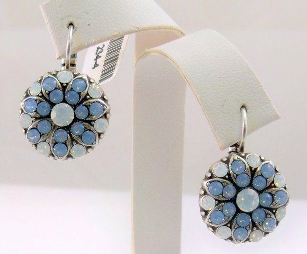 Mariana Flower Earrings NWT White Opal