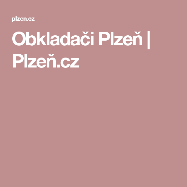 Obkladači Plzeň | Plzeň.cz