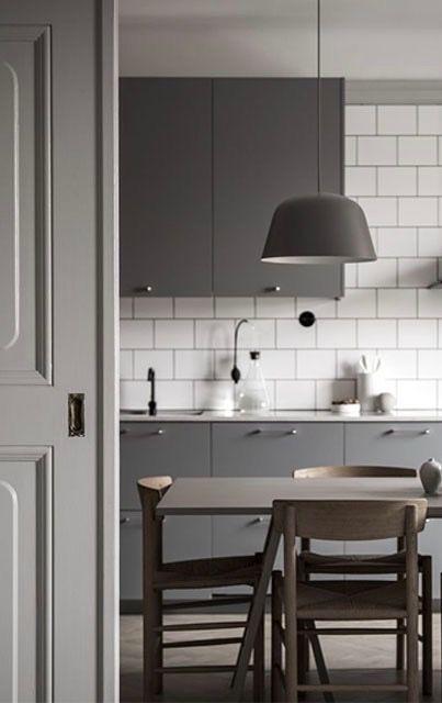 Grey Kitchen | Casas y Cocinas