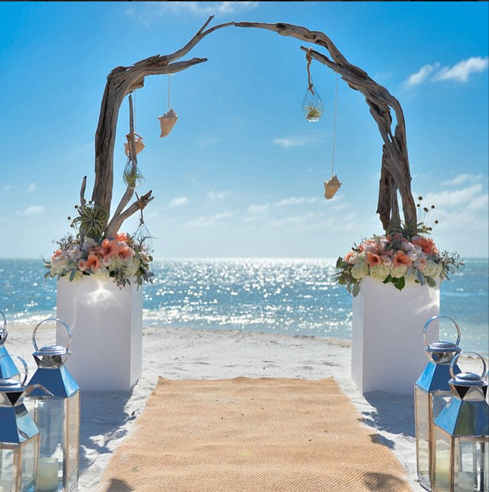 Key West Wedding Ideas: Gorgeous Wedding At Little Palm Island Flower And Decor By