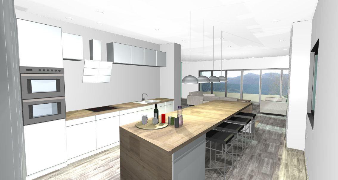 Rénovation D'Une Grange - Cuisine - Aménagement Intérieur