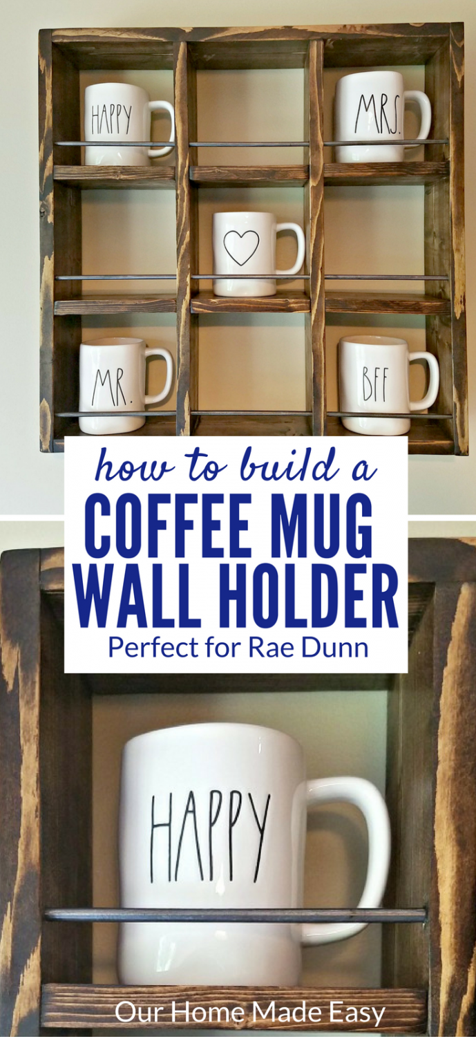 How To Build A Rae Dunn Mug Holder For Cheap Woodworking Projects That Sell Coffee Mug Holder Carpentry Projects
