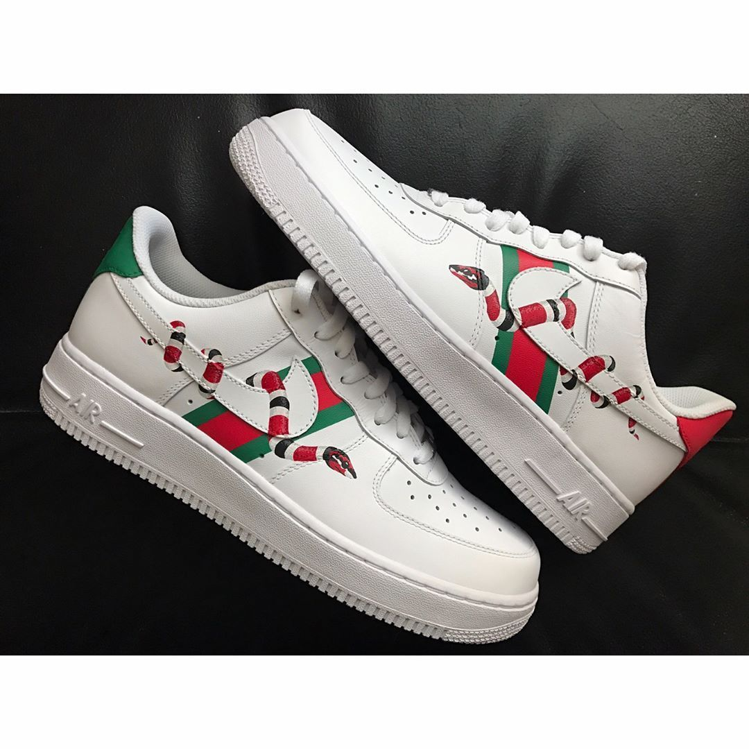 the latest 4a202 f3dab nike air force 1 gucci customized