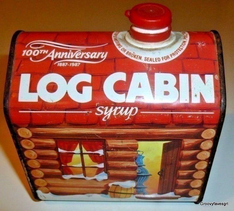 Log Cabin Syrup House Tin 100th Anniversary Advertising 1887 1987 Breakfast Logcabin Log Cabin Log Cabin House Cabin