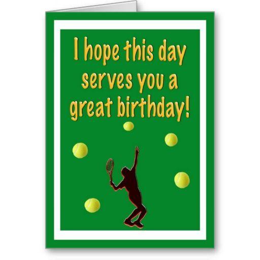 Tennis Player Happy Birthday Card Zazzle Com Happy Birthday