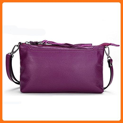 f182a0c1d2 Daiwenwo Women Leather Handbags Small Messenger Bags Cowhide Ladies  Crossbody Shoulder Clutch Bags (No8 Purple