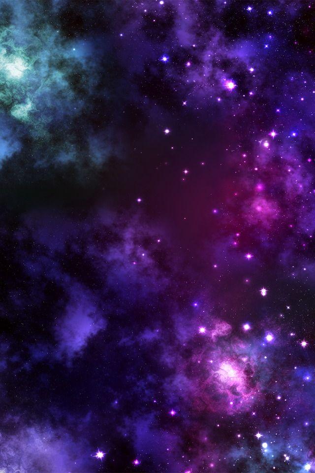 Galaxy Midnight Swim Violet Pearl Pink Gold Sparkle Galaxy
