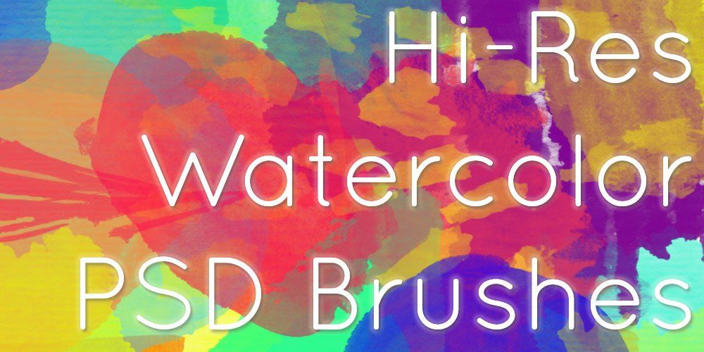 Free Watercolor Photoshop Brushes With Images Watercolor