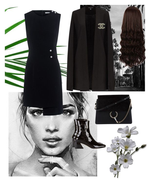 """Untitled #100"" by nuraypva on Polyvore featuring Finders Keepers, Dorateymur, Chloé, WigYouUp and Chanel"