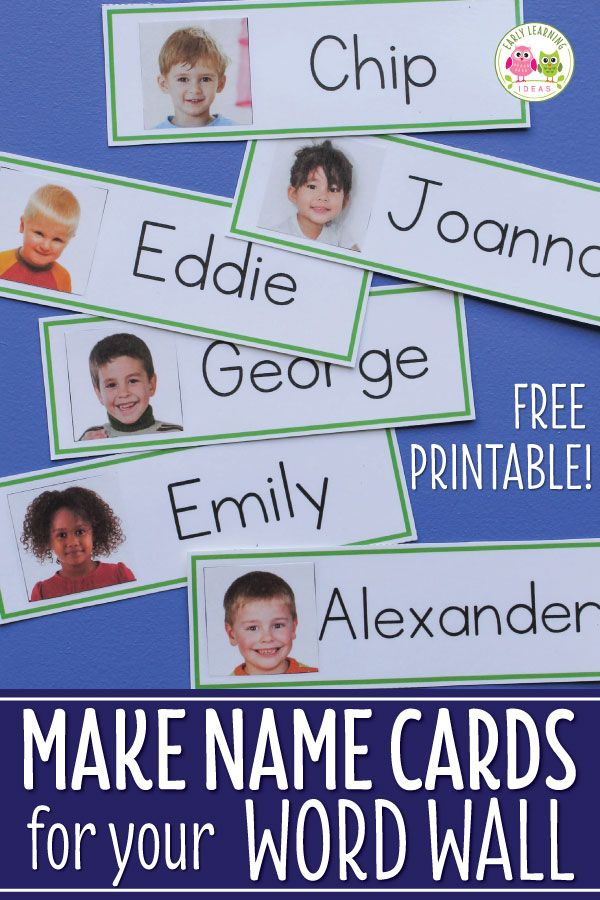 Name Cards: Make Name Cards for Your Word Wall #preschoolclassroomsetup
