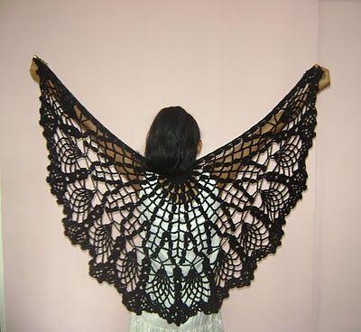 Pineapple Crochet Shawl   Crochet   Pinterest   Chal, Ponchos y ...