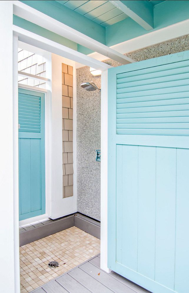 Outdoor Shower Beach House Outdoor Shower Paint Color Is