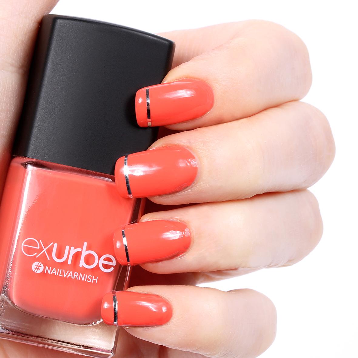 Tutti Frutti - Peach nail polish by exurbe cosmetics. With an easy ...