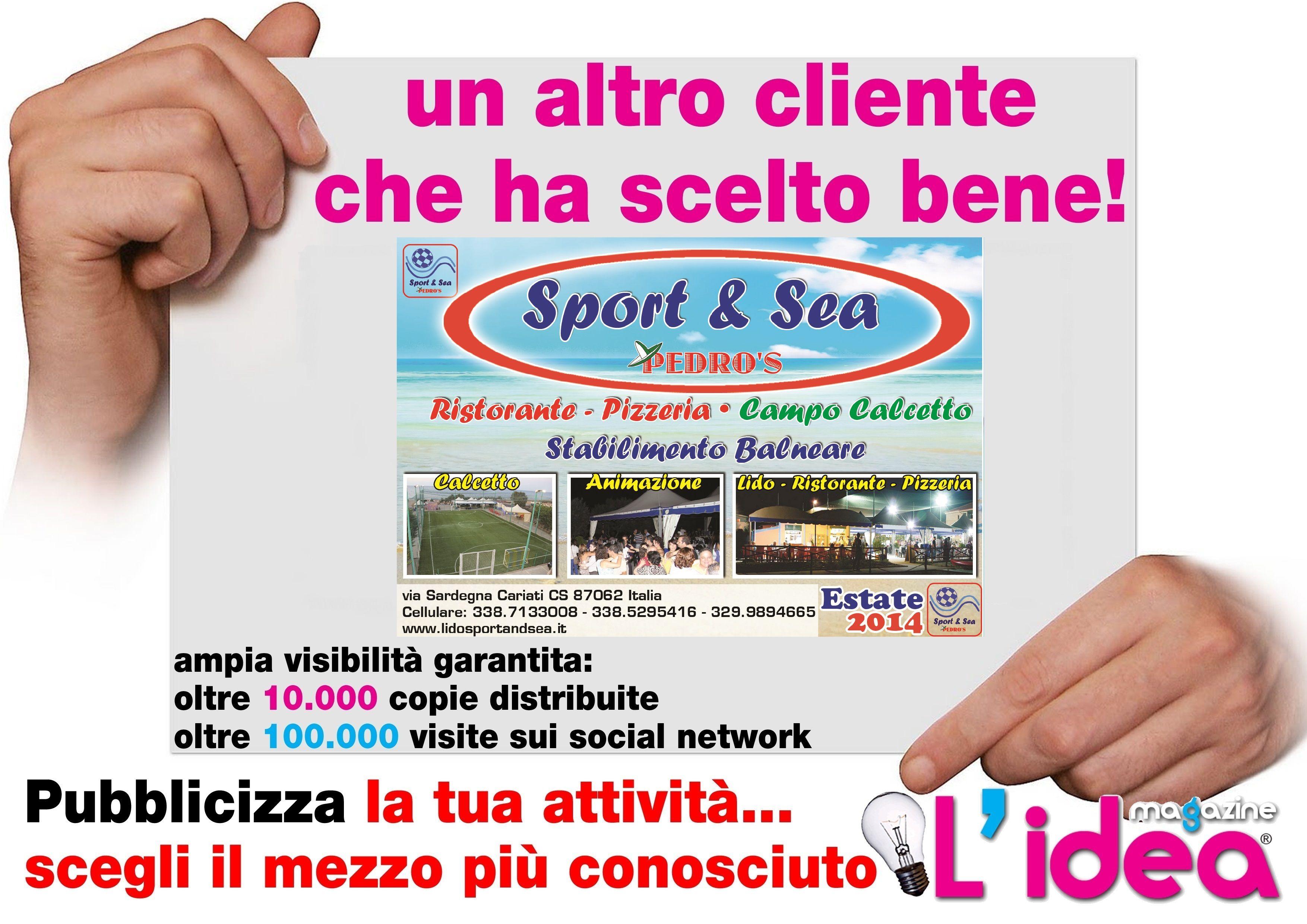 grafica da noi realizzata per Sport & Sea -Cariati - CS