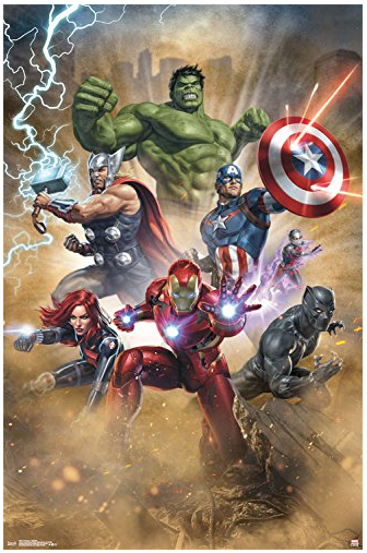 Trends International Avengers Fantastic Wall Poster 22 375 X 34 Avengers Poster Marvel Comics Art Avengers Comics