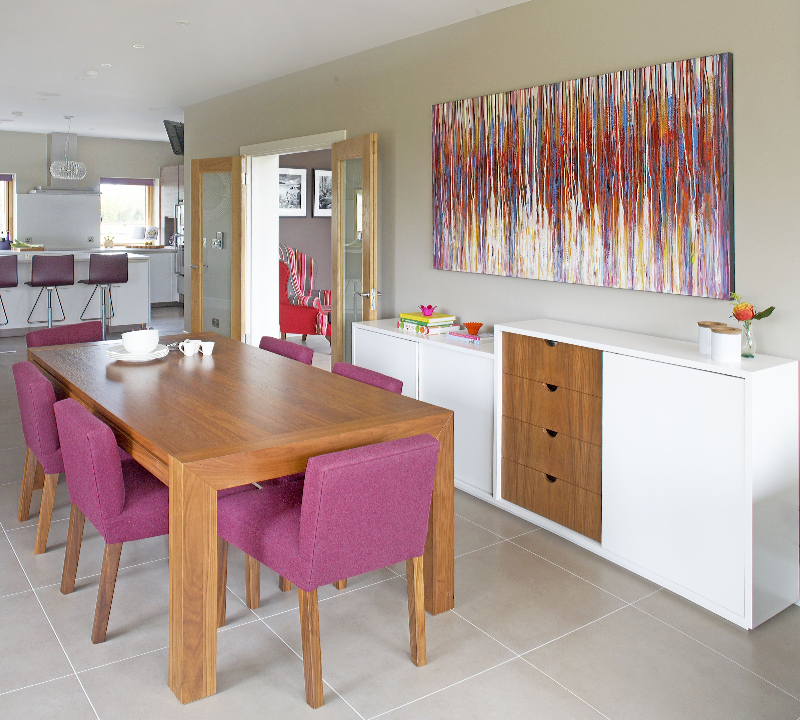 Dining area open plan living residential bedroom house
