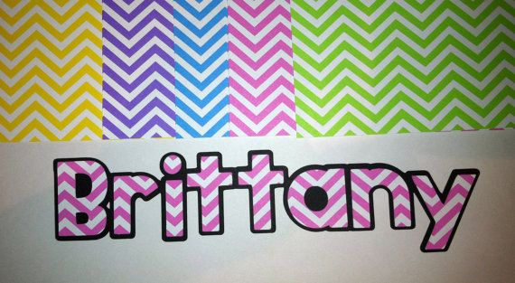 Personalized Chevron Name Cricut die cuts 5 by InspiredbyLilyMarie, $1.50