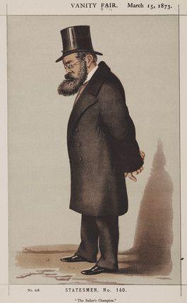 Samuel Plimsoll, English social reformer, 1873.
