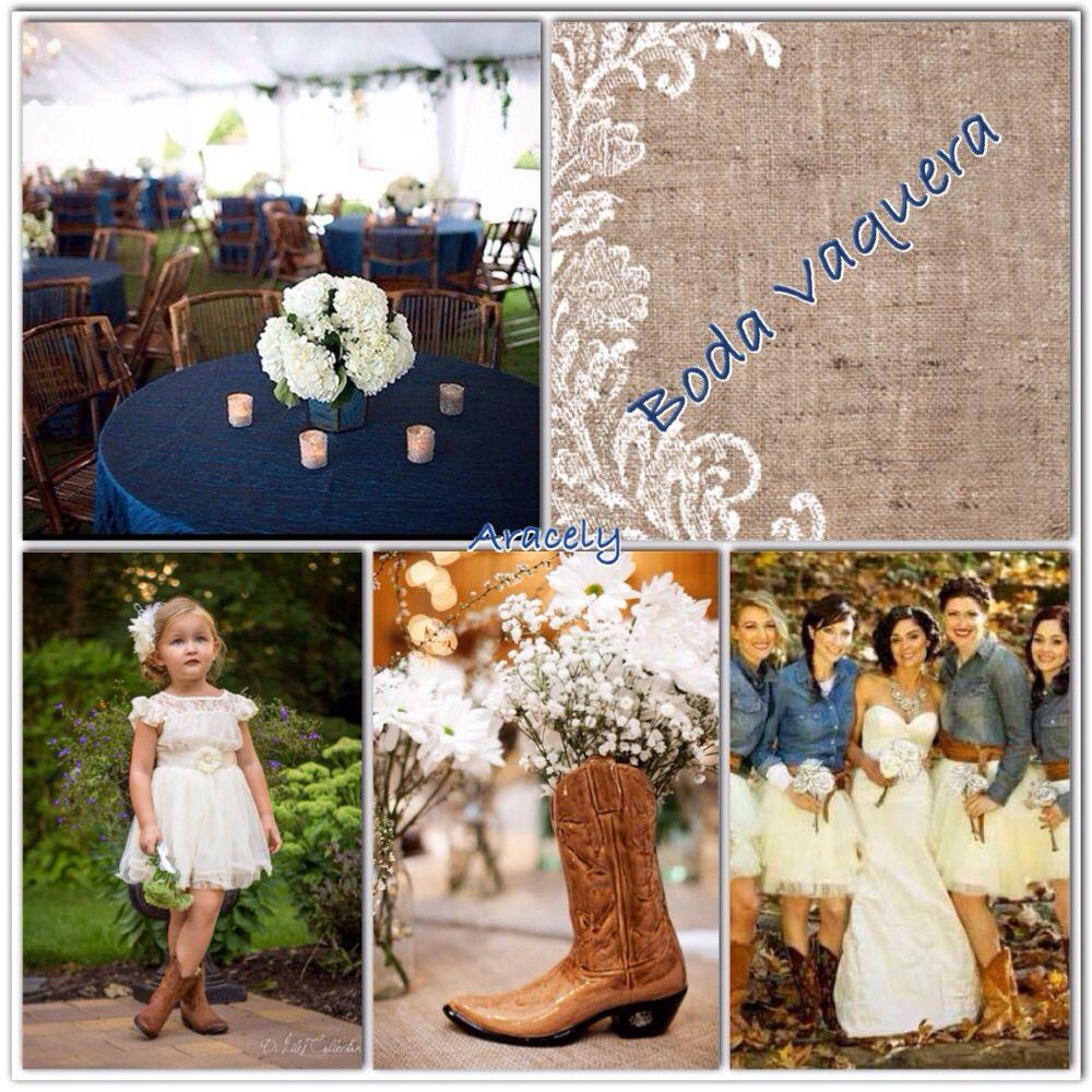 Rustic Mexican Wedding: Color Coordinating, Navy Blue, Burlap, Denim... Boda