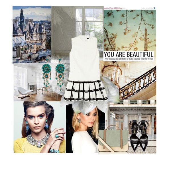 Hey by sophiebels on Polyvore featuring TIBI, Yves Saint Laurent, Warehouse, DANNIJO, Michal Negrin and WALL