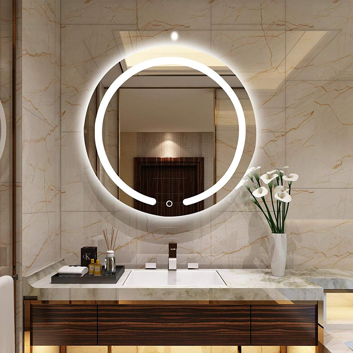 Aodailihb Led Bathroom Mirrors Wall 19 7x19 7 Round Waterproof