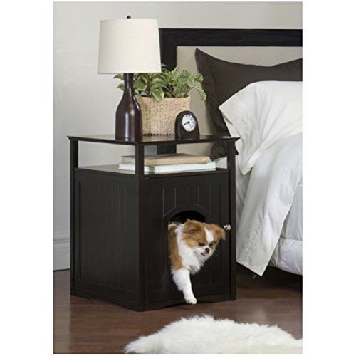 Pet Washroom Litter Box House Bed Nightstand Table Hidden Dog Cat Furniture Espresso Trust Me This Is Great Indoor Dog House Enclosed Dog Bed Animal House