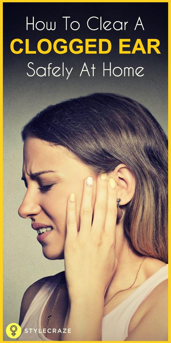 how to get rid of water in ear pain