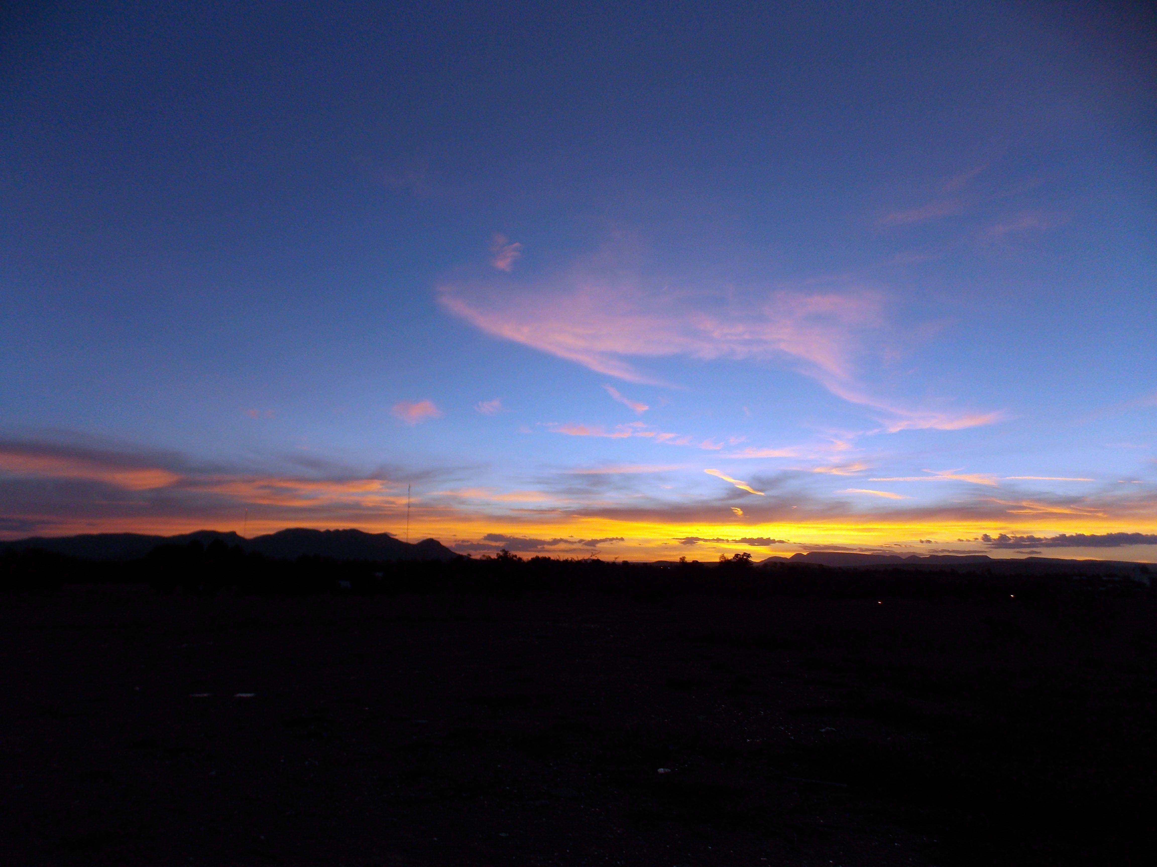 Puesta de sol en Aguascalientes, Ags. México.