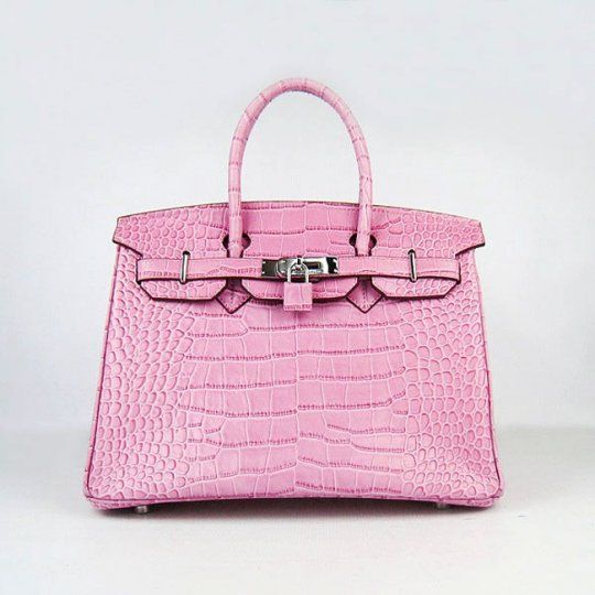ab39c56d0d0d Fashionista Handbag Hermes Low Price Overtakes Gucci 6088 Pink Crocodile  Stripe Silver Birkin Easy Travelling 30cm