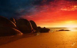 Fire Beach Beach Desktop Backgrounds Beach Wallpaper Background