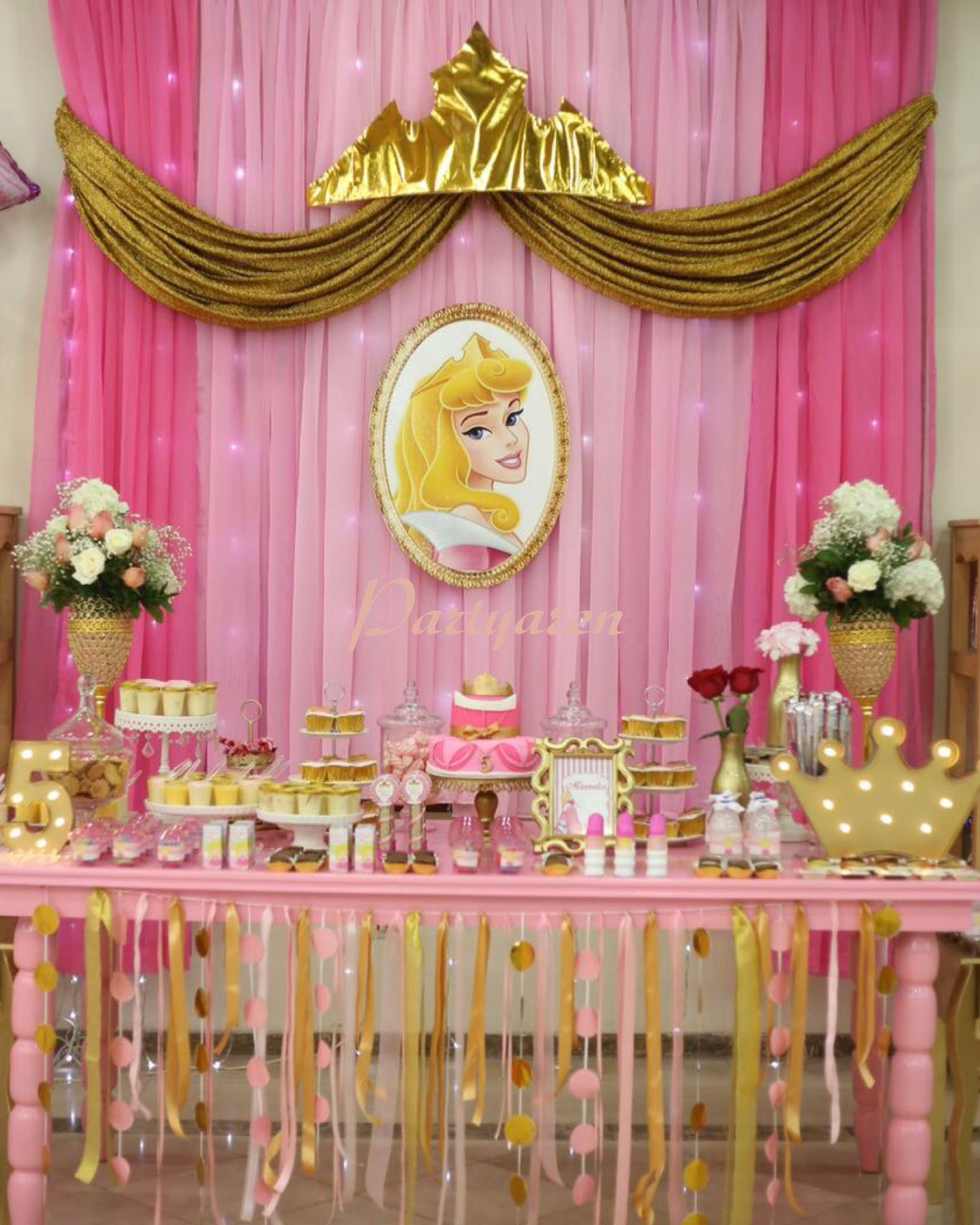 Princess Party Decoration Princess Party Fiesta Princesa Princesa Aurora Princess Aurora